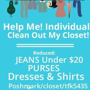 An individual's closet